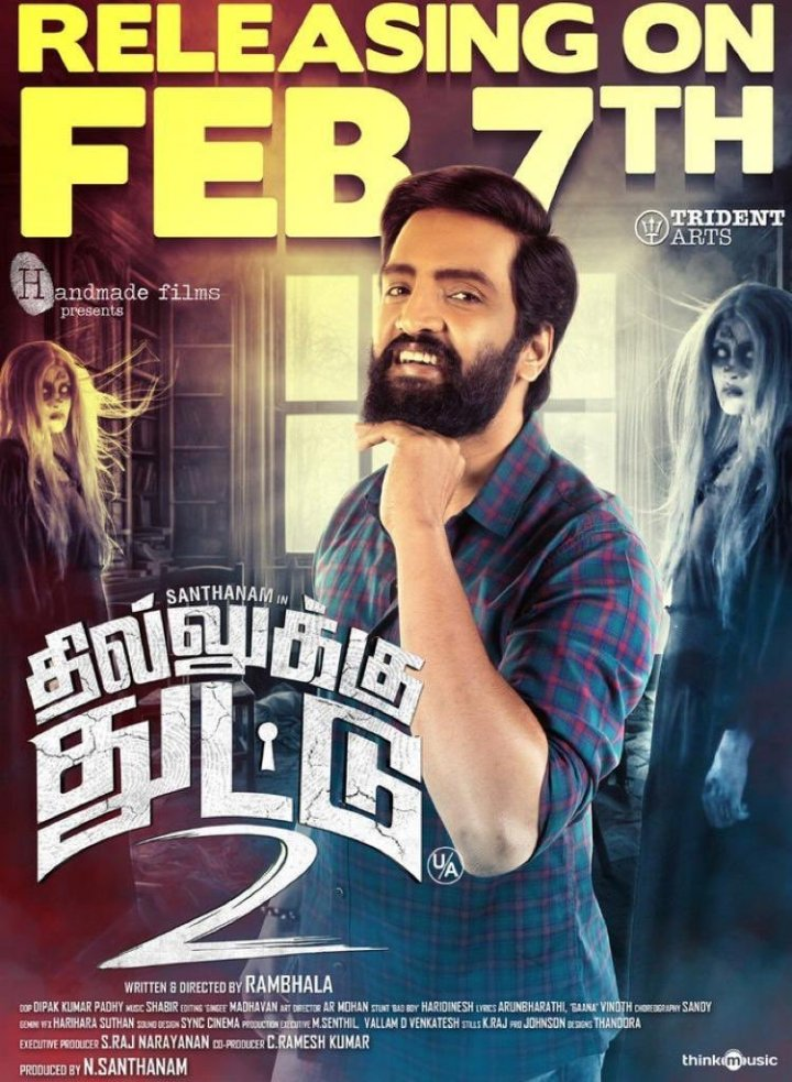 Dhilluku Dhuddu 2 Movie Review – Santhanam rides us with ghost comical fun !!